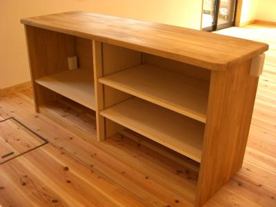 キッチンの作業カウンター及び家電収納棚をヤマトハウスで造りました!